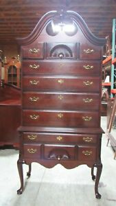 Thomasville Tall Chest Highboy Mahogany Bedroom Set