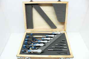 Fowler 0 6 Outside Micrometers 6 Piece Set 0 0001