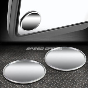 Pair 2 Universal Round Style Convex Back Rear Tow Side View Blind Spot Mirror
