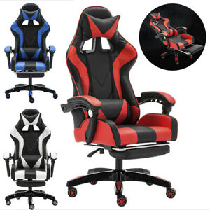 Cliensy Office Gaming Chair Racing Recliner bucket Seat Computer Desk Footrest