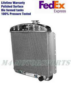 Kks 3 Row core Radiator 1949 54 Chevy Bel Air Fleetline Styleline Deluxe V8 1954
