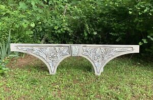 Architectural Salvage Carved Wood Arch Ornate Pediment