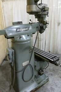 2 Hp Bridgeport Vertical Mill Yoder 71179