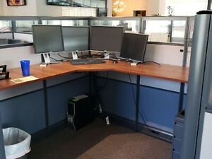 Used Office Cubicles Emerald 7x6 Cubicles