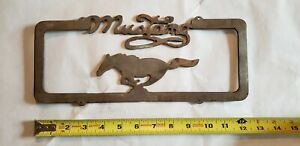 Vintage Custom Hand Made Ford Mustang Steel License Plate Topper One Of A Kind