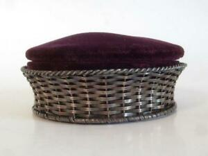 19th C Antique Large Gorham Sterling Silver Pin Cushion 4 3 8 Dia