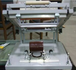 Manual Screen Cylinder Printing Machine For Bottle cup pen Surface Curve Press A