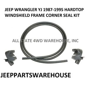 Corner Seals Trim And Center Moulding Rubber For 87 95 Jeep Wrangler Hardtop