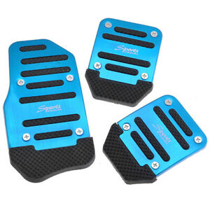 3pcs Aluminum Non Slip Automatic Car Brake Pedal Accelerator Pad Cover Set