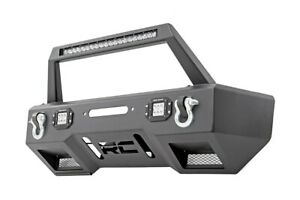 Rough Country Stubby Front Winch Bumper W Led For Wrangler Jk 11825