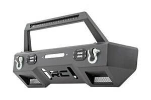 Rough Country Stubby Front Winch Bumper W Led For Wrangler Jk 11826
