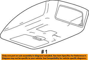 Ford Oem 08 10 F 350 Super Duty overhead Roof Console 8c3z25519a70ad