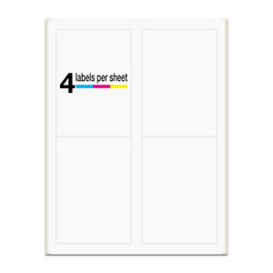 2000 Labels 3 5x5 Rounded Corner Self Adhesive 4 Labels Per Sheet Packzon