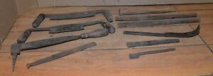 Antique Primitive Blacksmith Forged From File Collectible Draw Knife