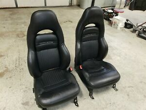 Corvette C5 Power Leather Sport Seats Ebony Black 1997 2004 Nice Used