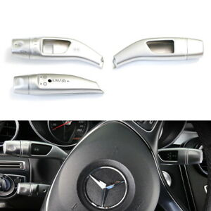 Wheel Gear Shifter Cruise Lever Windshield Wiper Switch Covers For Mercedes