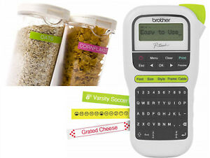 Brother P touch Pth110 Easy Portable Label Maker Lightweight Qwerty White