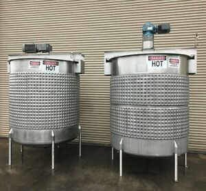Viatec 1 150 Gallon Stainless Jacketed Process Mix Tank