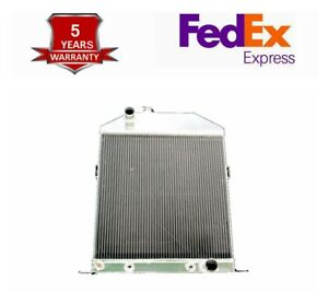 1942 1946 1947 1948 Ford Mercury Coupe Chevy V8 Eng 3row Aluminum Radiator C46ch