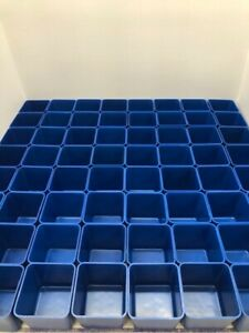 64 3 X 3 X 3 Blue Boxes Fit Lista Vidmar Toolbox Organizers Drawer Dividers