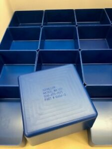 16 6 x6 x3 Blue Plastic Boxes For Vertical Lift Storage System Bins Trays Cup
