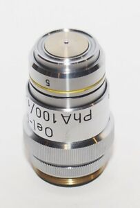 Reichert Oel iris Ph A 100 1 25 160 0 17 100x Phase Anoptral Contrast Objective