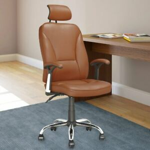 Corliving Executive Office Chair Light Brown