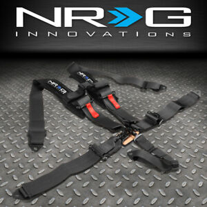 Nrg Innovations Sbh R5pcbk Sfi 16 1 Latch Link Buckle 5 Point Seat Belt Harness