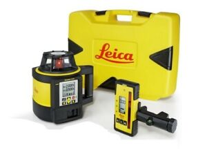 Brand New Leica Rugby 870 Rotating Laser W Rodeye 120 Alka Battery Pack