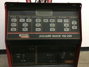 Used Lincoln Electric Square Wave Tig 255 Ac dc Gtaw Smaw Welder 1ph 208 230 460