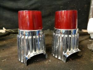 1961 Plymouth Tail Lights Used Bezels And Lenses Pair Right And Left