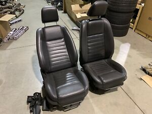 2005 2006 2007 Mustang Gt Leather Oem Seats Front Pair Black Power