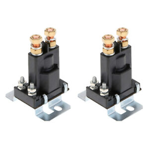 2x High Current Starter Relay 500a Dc12v Auto Car Relay Start Contactor 4pin