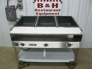 Vollrath Serve Well 3 Pan Steam Table Cabinet Hot Food Bar Buffet Warmer 38003
