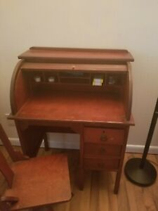 Antique Child Roller Desk