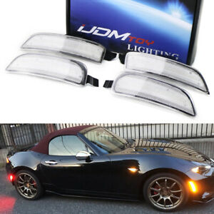 Clear Lens Amber red Full Led Side Marker Light Kit For 16 up Mazda Mx 5 Miata