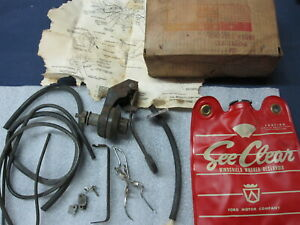 Nos 1961 Ford Falcon Windshield Washer Kit Accessory C1db 17a603 a Comet 1962