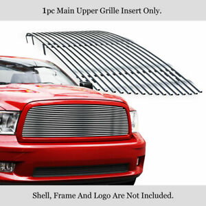 Fits 2009 2012 Dodge Ram 1500 Upper Stainless Steel Chrome Billet Grille Insert