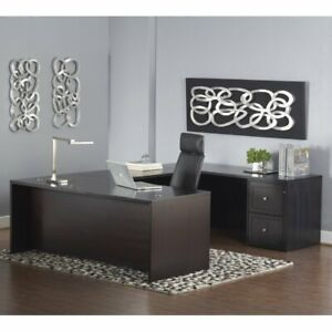 Unique Furniture 2000 Series U shaped Executive Desk With Mobile Pedestal