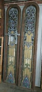 165 Year Old Leaded Stain Glass Windows From Old Church In Atlanta Need Repair