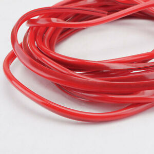 16ft 5m Red Car Door Moulding Rubber Scratch Protector Strip Edge Guard Trim
