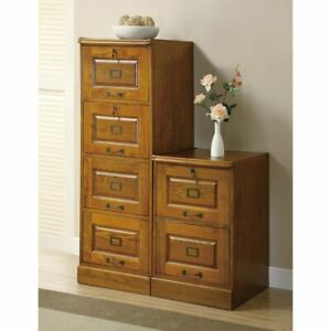 Coaster Furniture Warm Honey Locking File Cabinet
