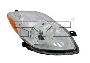 Tyc Right Passenger Side Halogen Headlight For Toyota Yaris Hatchback 2009 2011