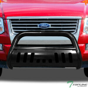 Topline For 2006 2010 Ford Explorer Bull Bar Bumper Grill Grille Guard Black
