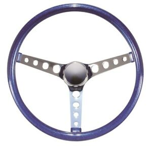 15 Mooneyes California 3 spoke 4 Hole Steering Wheel Metallic Blue Gs280cmbl