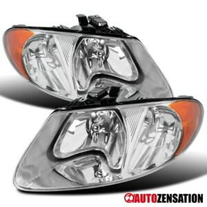 For 2001 2007 Dodge Grand Caravan Chrysler Town Country Clear Headlights Lamps