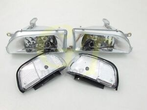 Headlights Corner Fit For Toyota Corolla Ae92 Fx Gt E90 Ee90 Sedan 89 92 Wh Gt