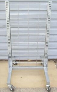 Store Fixture Supplies Rolling Slat Grid Or Shelving Display Unit 50 Tall