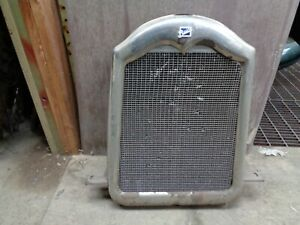 1926 Buick Radiator Grille Shell Nickel Finish Standard 6 With Emblem