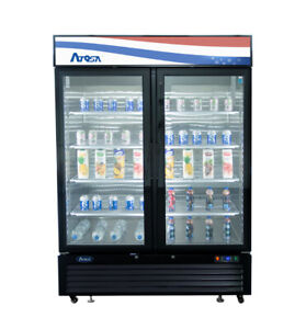 Atosa Mcf8723gr 44 Cu Ft Double Section Refrigerated Merchandiser
